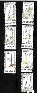 Turkey Northern Cyprus-Sc#288-93 & #295c-unused NH set-Flowers-Flora-1990-