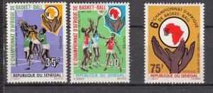 J28174 1971 senegal set mh #354-6 sports