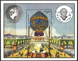 Central African Republic. 1983. bl236. Balloon. USED.