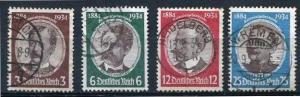 Germany 1934 Sc 432-5 Mi 540-3 Used Portraits:Luderitz  Nachtigal  Visemann  ...