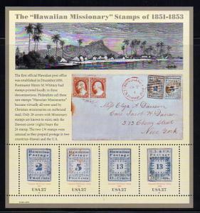 3694 Sheet Hawaiiian  Missionairy Stamps