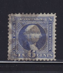 115 VF+ used neat cancel with nice color cv $ 225  ! see pic !
