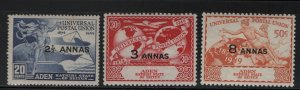 ADEN, 16-18 Short Set, Hinged, 1949 75th anniv. the formation of UPU