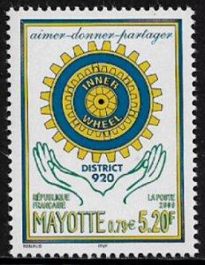 Mayotte #135 MNH Stamp - Rotary International