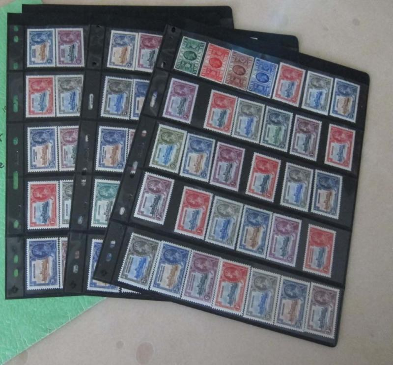 GB 1935 KGV Silver Jubilee Completed 249 stamps MNH - offer