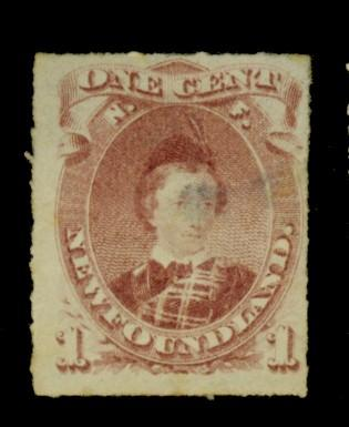 Newfoundland #37 MINT Fine No Gum Small Thin Cat$160