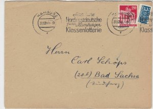 Germany 1948 Obligatory Tax Aid For Berlin Hamburg Cancel Stamps Cover Ref 24167