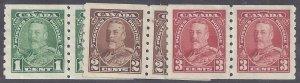 Canada Scott #228-30 Mint Pairs NG VF