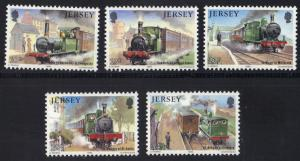 Jersey  1985  MNH  Western railway   complete