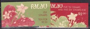 PALAU ( Us Trust)^^^^^x2  MNH  Booklets< ORCHIDS> @@xxxsc607palau077
