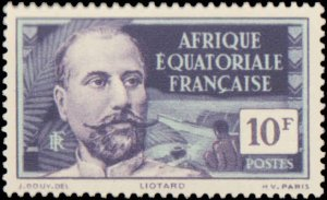 French Equatorial Africa #71, Incomplete Set, 1937, Hinged