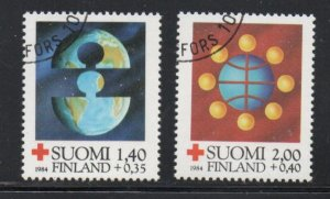 Finland Sc B233-34 1984 Red Cross charity stamp set used