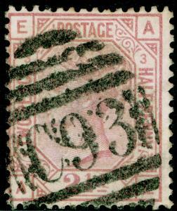 SG141, 2½d rosy mauve PLATE 3, FINE USED. Cat £150. KE