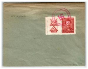 Czechoslovakia 1938 Germany Unification Cover / Sm Top Crease - Z13831