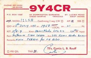 8666 Amateur Radio QSL Card  TRINIDAD WEST INDIES