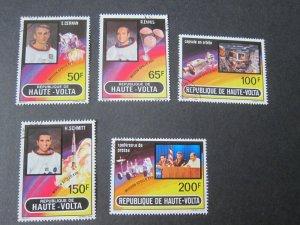 Burkina Faso 1973 Sc 289-93 space set FU