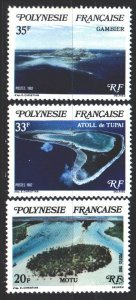 French polynesia. 1982. 359-61. Tourism, islands. MNH.