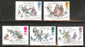 Great Britain Scott 1528-32 MNH** 1993 Christmas Carol set