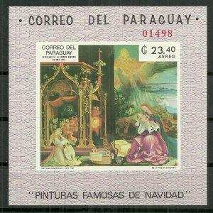 1969 Paraguay #1219 Famous Christmas Painting MNH C/S SCV$22.50