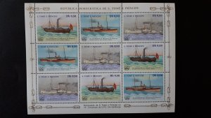 Sao Tome and Principe 1984. - Ships ** MNH Sheet (perforated) Db 0,50