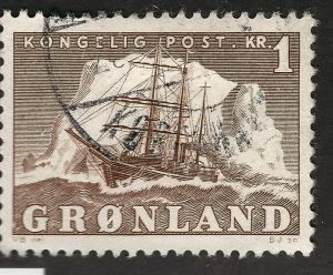 Greenland 1950 Sc #36 Used FF Cat $2.75...Quality Bargain!
