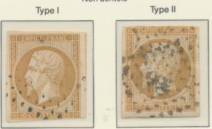 France Stamp Scott #14 and 14c (Types I and II), Used - Free U.S. Shipping, F...