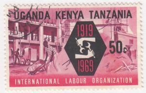 Kenya Uganda Tanzania, SG261, CTO-H, 1969, International Labor