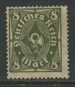 GERMANY. -Scott 190- Definitives -1922- Mint - Wmk 126 - Single 8m Stamp