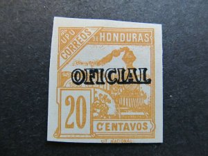 A4P11F12 Honduras Official Stamp 1898-99 20c mint no gum old forgery