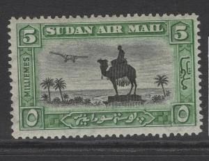 SUDAN SG50 1931 5m BLACK & GREEN MTD MINT