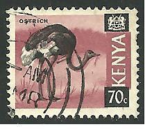 Kenya #28, Ostrich, Used**