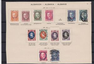 albania  1927 -1928  overprint mounted mint  and used stamps ref r13342