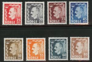 NORWAY Scott 310-317 MH*  1950-51 King Haakon complete se...
