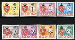 Isle of Man 1975 Postage Due complete set of 8 unmounted ...