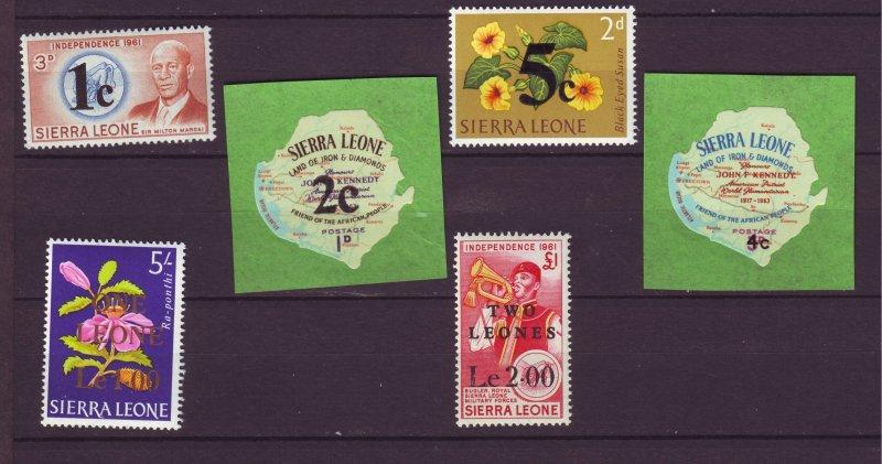 J24462 JLstamps 1965 sierra leone set mnh #280-5 ovpt,s
