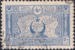 Turkey #428a   Used  p.11.5