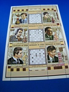 CHAD  -  SCOTT # 799 -  CHESS MINI SHEET   MNH  (ss14)