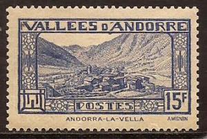 Andorra - French  #  62 B  Unused