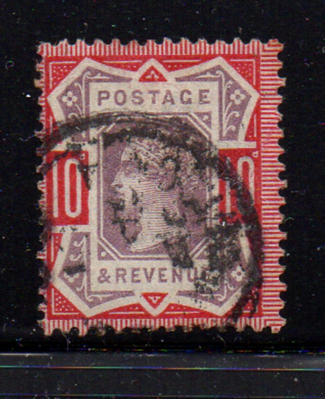 Great Britain Sc 121 1890 10d carmine rose & lilac   Victoria stamp used