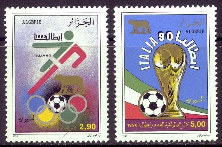World Cup Soccer '90 On Stamps From Algeria