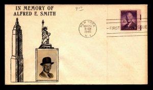 US SC# 937 FDC / Crosby Cachet / Erased Address - L5533