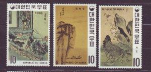 J23375 JLstamps 1970 south korea part of set mnh/mlh  #721-3 art