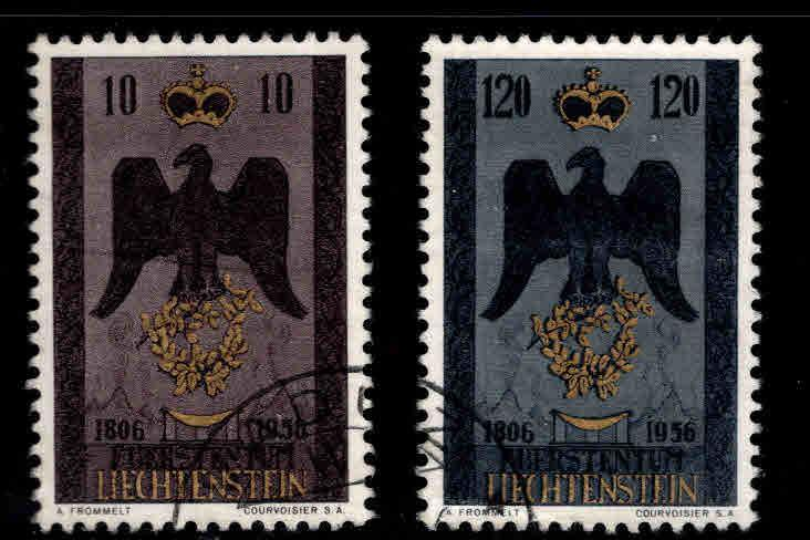 LIECHTENSTEIN Scott 301-302 Used 1956 set