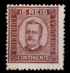 Portugal Scott 69b perf 13.5 King Carlos MH*