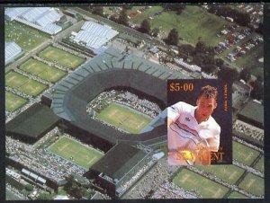 St Vincent - Bequia 1988 International Tennis Players $5 ...