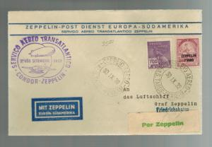 1932 Brazil Graf Zeppelin Condor Cover to Germany # C30 LZ 127