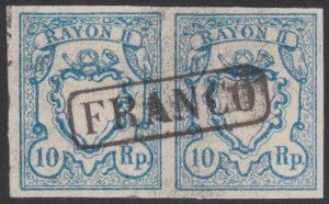 SWITZERLAND  An old forgery of a classic stamp - pair.......................B199