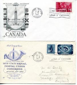 Canada 2   VF FDC