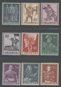 Switzerland 1941 Famous Men set Sc# 270-78 NH