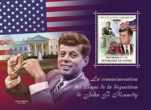 Guinea JFK Stamps 2018 MNH John F Kennedy Famous People US Presidents 1v S/S
